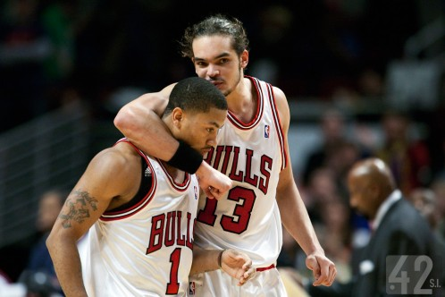 Derrick Rose and Joakim Noah