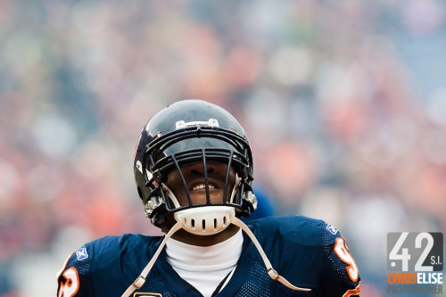 13 December 2009: Chicago Bears defensive end Adewale Ogunleye looks dejected during the Green Bay Packers 21-14 win over the Chicago Bears at the Soldier Field, in Chicago, Illinois, USA. © Chris Elise